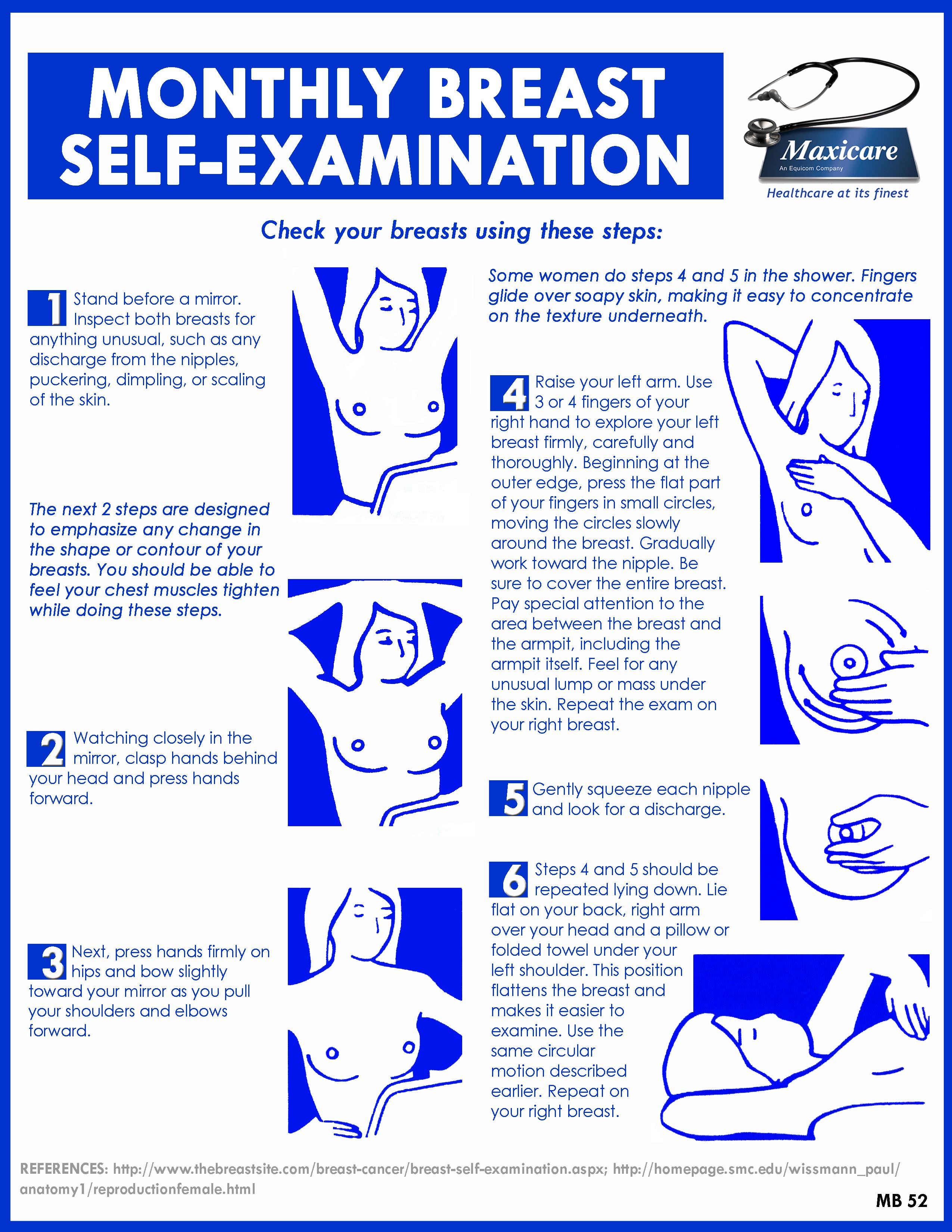 Does not breast self exam discharge
